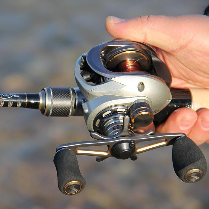 Tsurinoya 10Bb 6.6:1Ck-150L Bait Casting Reel Magnetic And Centrifugal-Baitcasting Reels-Extragreen Fishing-Left handle-Bargain Bait Box