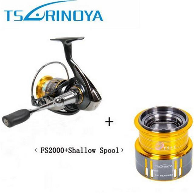 Tsurinoya 2000 Spining Fishing Reel 9+1Bb/5.2:1 Metal Spool Moulinet Peche-Spinning Reels-KeZhi Fishing Tackle Store-FS2000 and Spool-Bargain Bait Box