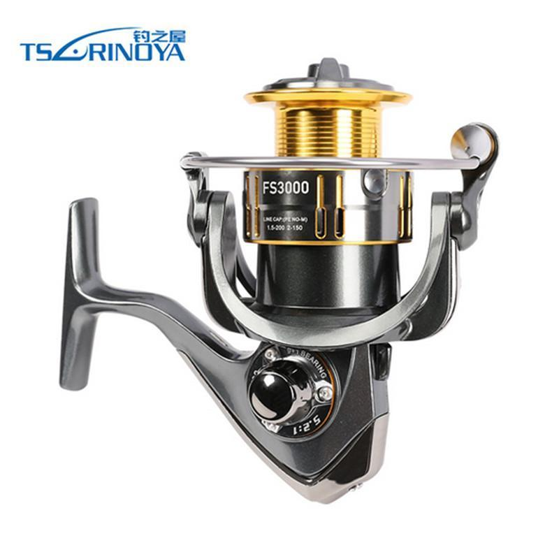 Tsurinoya Fs3000 Spining Reel 9+1Bb 5.2:1 Metal Spool Aluminium Handle De-Spinning Reels-Bassking Fishing Tackle Co,Ltd Store-Bargain Bait Box