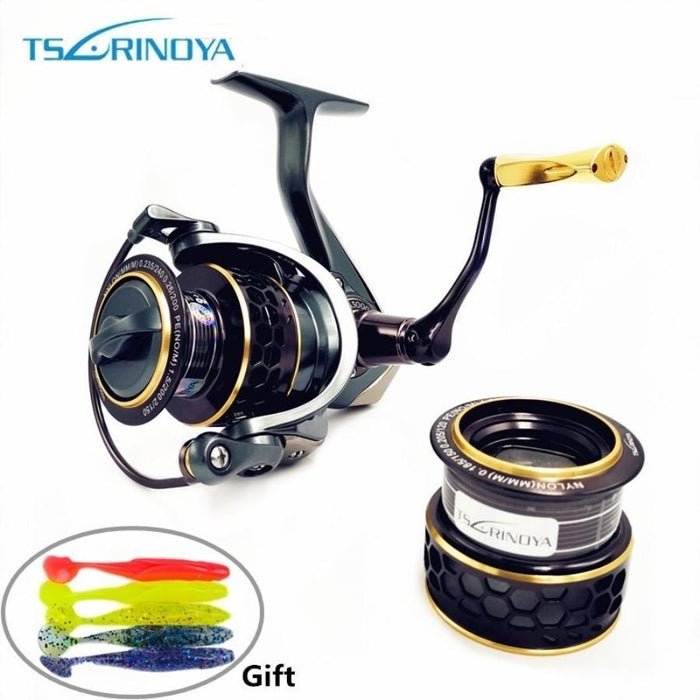 Tsurinoya Jaguar 4000 3000 2000 1000 Large Low Profile Double Spool Fishing-Spinning Reels-Mavllos Fishing Tackle Store-1000 Series-Bargain Bait Box