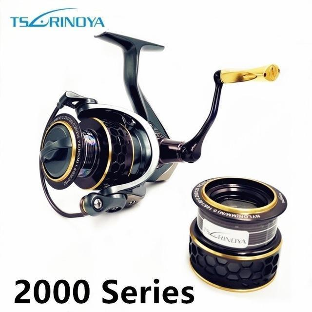 Tsurinoya Jaguar 4000 3000 2000 1000 Large Low Profile Double Spool Fishing-Spinning Reels-Mavllos Fishing Tackle Store-2000 Series-Bargain Bait Box