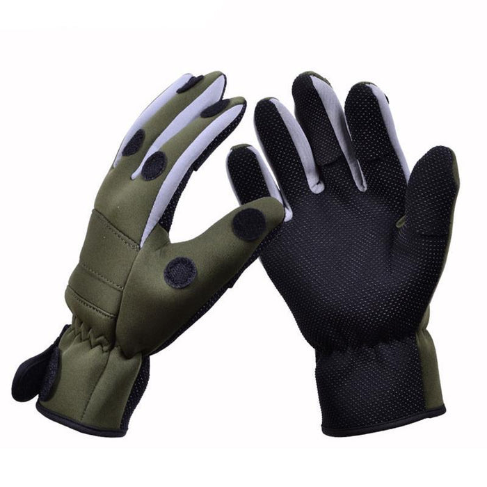 Tsurinoya Keep Warm Anti-Slip Fishing Gloves Waterproof 3 Fingerless Neoprene-Gloves-Bargain Bait Box-L-Bargain Bait Box