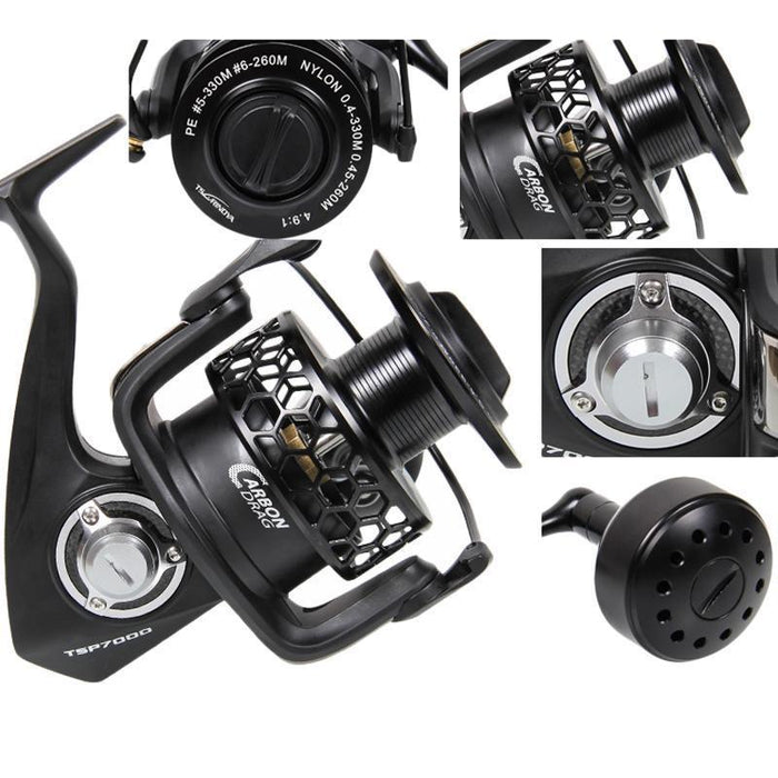 Tsurinoya Tsp7000 Full Metal Spinning Fishing Reel 8Bb 4.9:1 Boat Rock See Wheel-Spinning Reels-Hepburn's Garden Store-Bargain Bait Box
