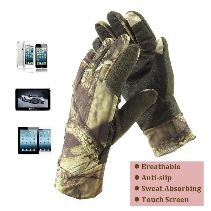 Ultra Thin Breathable Anti-Slip Fishing Hunting Gloves Camo Touch Screen Camo-Gloves-Bargain Bait Box-Black-One Size-Bargain Bait Box