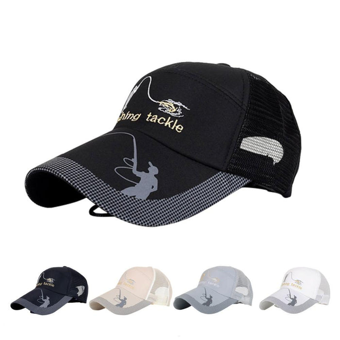 Unisex Men Women Adjustable Fishing Cap Snapback Golf Sports Hat Sun Visor-Hats-Bargain Bait Box-Beige-M-Bargain Bait Box