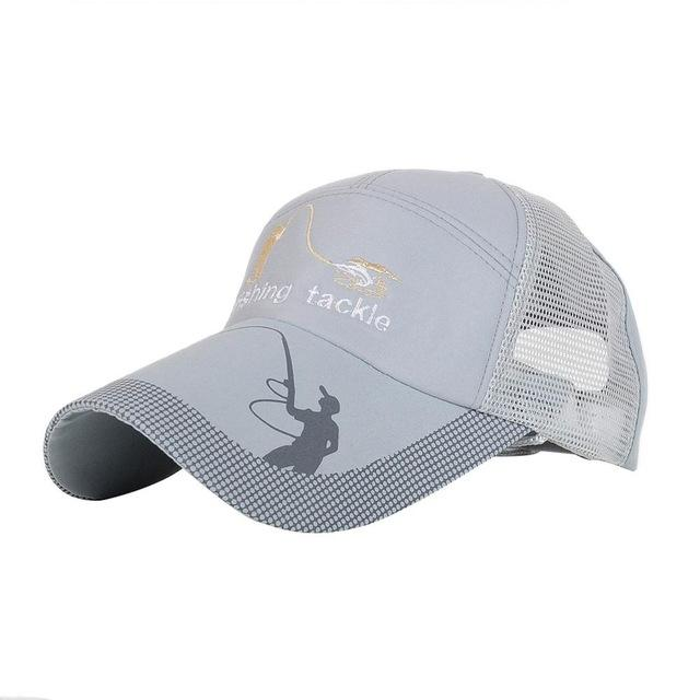 Unisex Men Women Adjustable Fishing Cap Snapback Golf Sports Hat Sun Visor-Hats-Bargain Bait Box-Gray-M-Bargain Bait Box