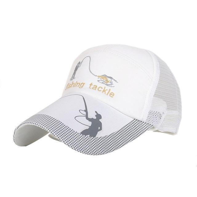 Unisex Men Women Adjustable Fishing Cap Snapback Golf Sports Hat Sun Visor-Hats-Bargain Bait Box-White-M-Bargain Bait Box