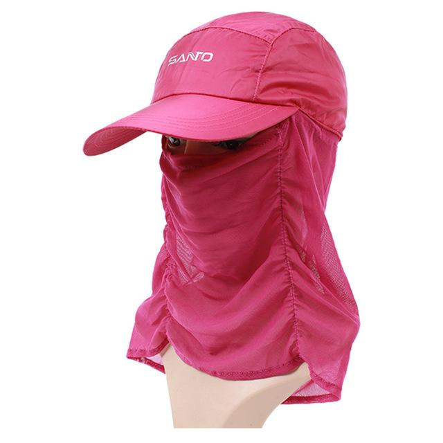 Unisex Sun Cap Sport Uv Protection Breathable Hat Fishing Cap M-29-Hats-Bargain Bait Box-Rose red-M-Bargain Bait Box