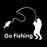 Universal Car Go Fishing Car Sticker Truck Window Decal White Decoration-Fishing Decals-Bargain Bait Box-Bargain Bait Box