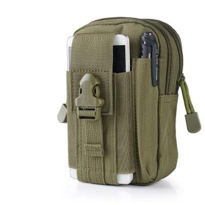Universal Outdoor Sport Tactical Bag Molle Waist Nags 5.5/6 Inches Waterproof-YiWuLing Outdoor Tactical Store-army green-Bargain Bait Box