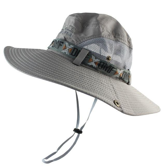 Upf 50+ Bucket Hat Summer Men Women Boonie Hat Outdoor Uv Protection Long Wide-Men's Bucket Hats-CAMOLAND Official Store-Gray-Bargain Bait Box