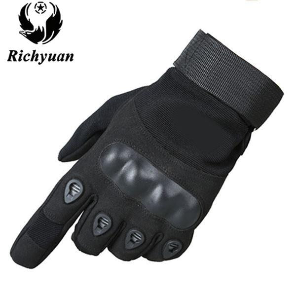Us Military Tactical Gloves Sports Full Finger Combat Motocycle Slip-Resistant-Gloves-Bargain Bait Box-full black-L-Bargain Bait Box