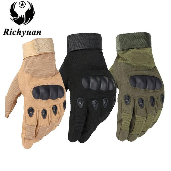 Us Military Tactical Gloves Sports Full Finger Combat Motocycle Slip-Resistant-Gloves-Bargain Bait Box-full yellow-M-Bargain Bait Box