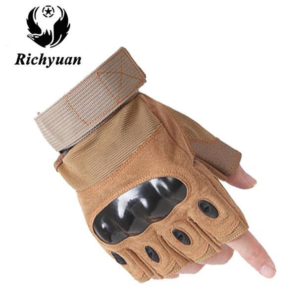 Us Military Tactical Gloves Sports Full Finger Combat Motocycle Slip-Resistant-Gloves-Bargain Bait Box-half yellow-L-Bargain Bait Box