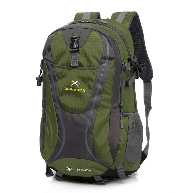 Usb Charging Hiking Backpack Nylon Waterproof Outdoor Bags Climbing Backpack-Climbing Bags-Alpscamping Store-Army green-30 - 40L-Bargain Bait Box
