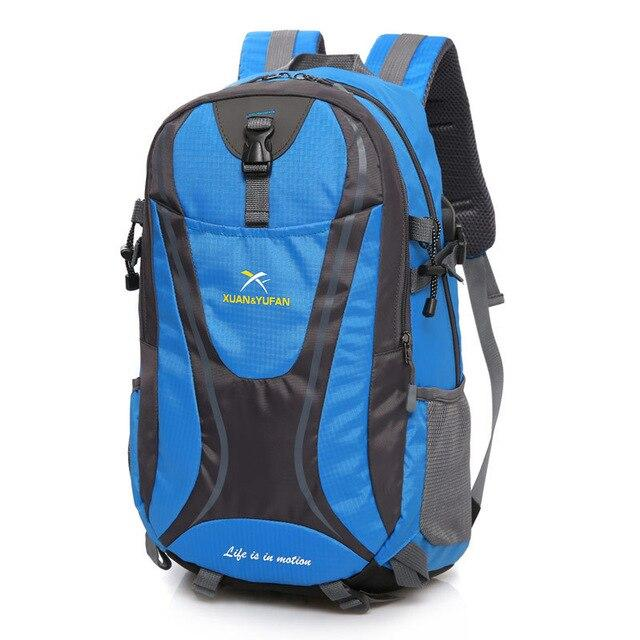 Usb Charging Hiking Backpack Nylon Waterproof Outdoor Bags Climbing Backpack-Climbing Bags-Alpscamping Store-Blue Color-30 - 40L-Bargain Bait Box