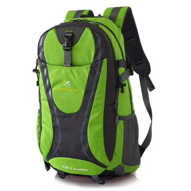Usb Charging Hiking Backpack Nylon Waterproof Outdoor Bags Climbing Backpack-Climbing Bags-Alpscamping Store-Green Color-30 - 40L-Bargain Bait Box