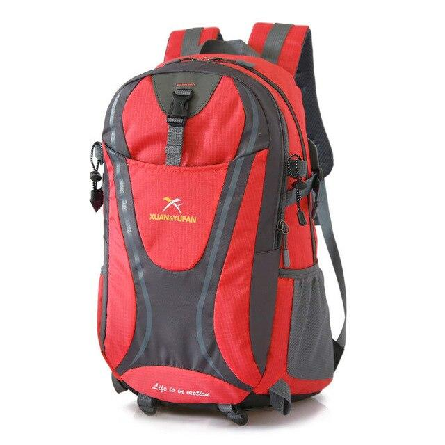 Usb Charging Hiking Backpack Nylon Waterproof Outdoor Bags Climbing Backpack-Climbing Bags-Alpscamping Store-Red Color-30 - 40L-Bargain Bait Box