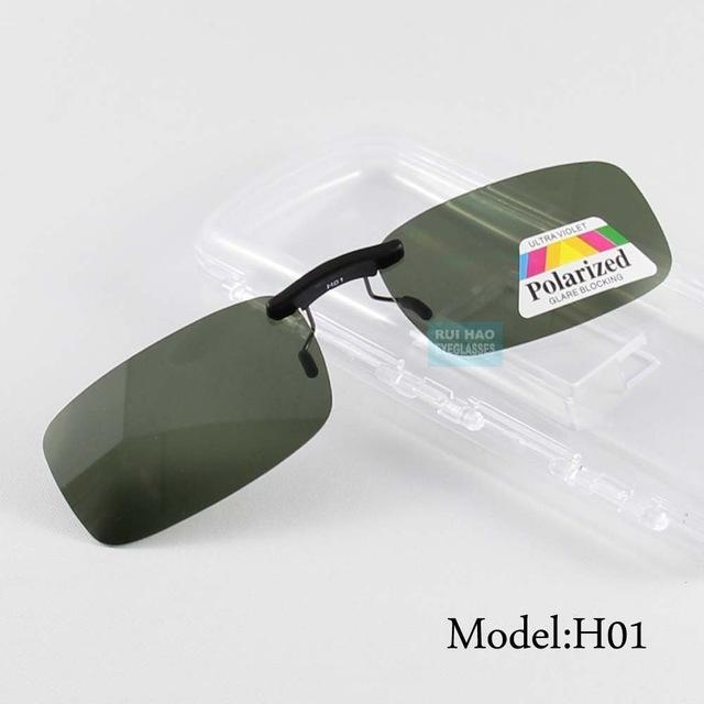 Uv400 Polarized Sunglasses Clip On Light Sun Glasses Men Unisex Eyeglasses-Polarized Sunglasses-Bargain Bait Box-Model H01-Bargain Bait Box