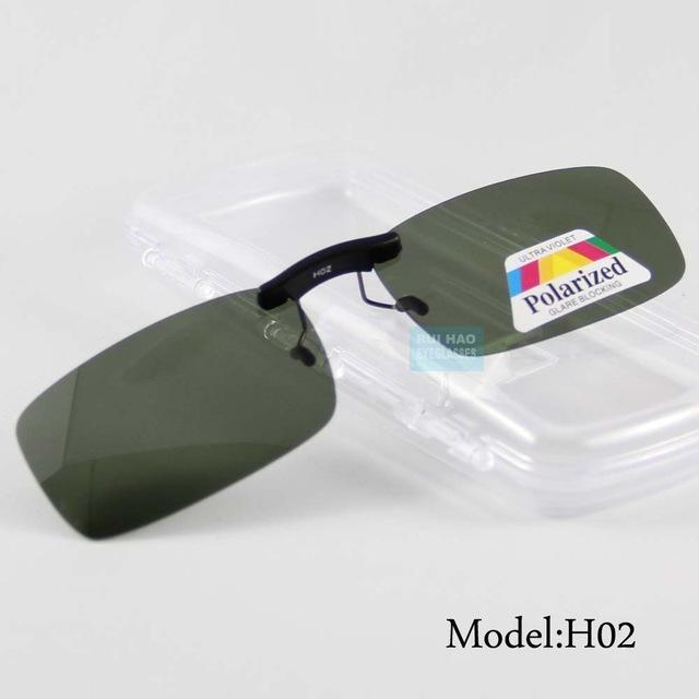 Uv400 Polarized Sunglasses Clip On Light Sun Glasses Men Unisex Eyeglasses-Polarized Sunglasses-Bargain Bait Box-Model H02-Bargain Bait Box