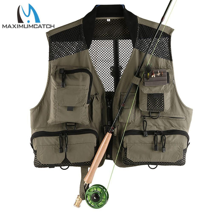 V-Lite Light Fishing Vest With Pockets Quick Dry Fly Fishing Jacket-Fishing Vests-Bargain Bait Box-Bargain Bait Box