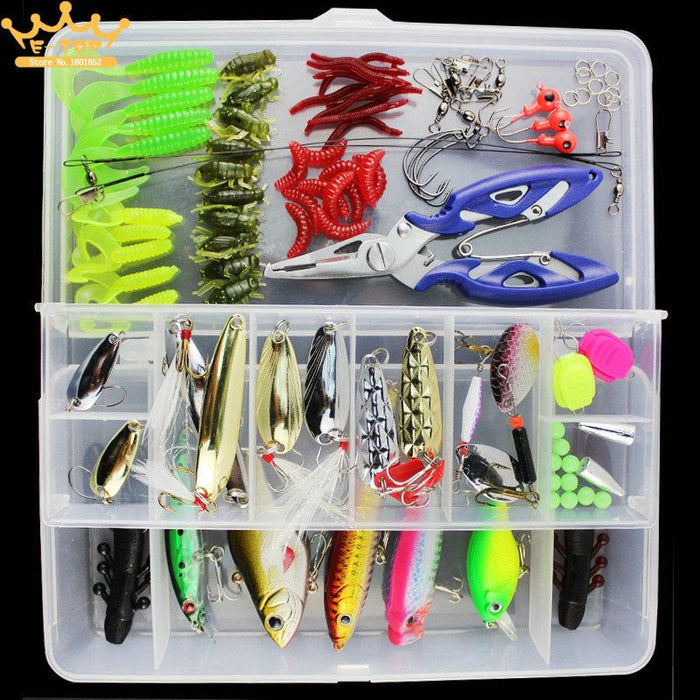 Value 101Pcs Almighty Fishing Kit With Hard And Soft Baits Minnow Box-Mixed Combos & Kits-Bargain Bait Box-Bargain Bait Box