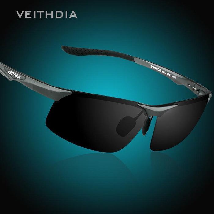 Veithdia Aluminum Magnesium Men'S Polarized Sun Glasses Night Vision Mirror Male-Polarized Sunglasses-Bargain Bait Box-Black-China-Bargain Bait Box