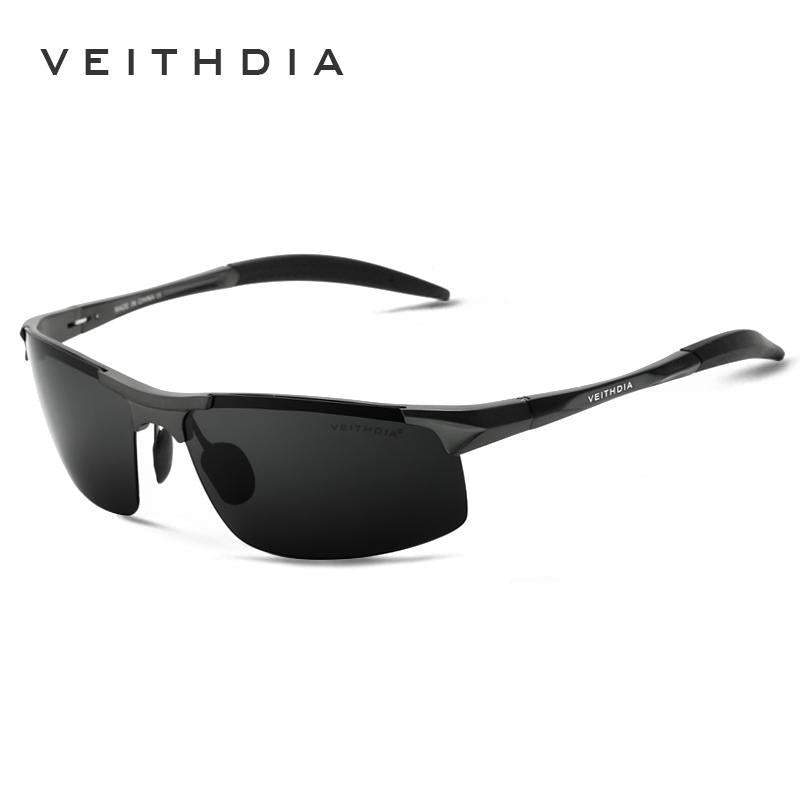 Veithdia Aluminum Mens Sunglasses Polarized Sun Glasses Driving Eyewear For-Polarized Sunglasses-Bargain Bait Box-black with box 1-Bargain Bait Box