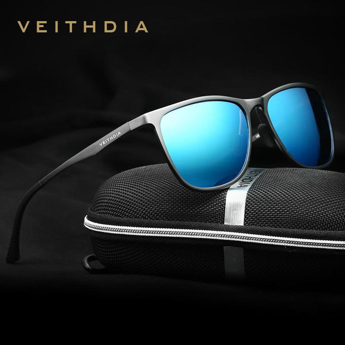 Veithdia Retro Aluminum Magnesium Men'S Sunglasses Polarized Lens Vintage-Polarized Sunglasses-Bargain Bait Box-black with box 1-Bargain Bait Box