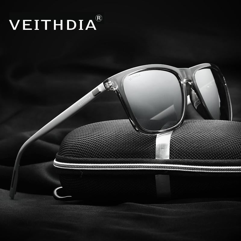 Veithdia Unisex Retro Aluminum+Tr90 Polarized Mens Sunglasses Mirror Vintage-Polarized Sunglasses-Bargain Bait Box-black with box 1-Bargain Bait Box