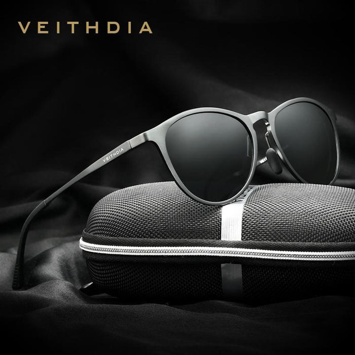Veithdia Vintage Retro Sunglasses Men/Women Male Sun Glasses Gafas Oculos De Sol-Polarized Sunglasses-Bargain Bait Box-black-Bargain Bait Box