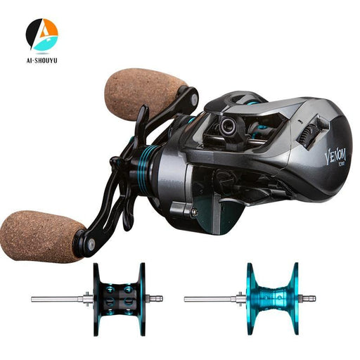 Venom Baitcast Fishing Reel Double Cups 11+1Bb 8.1:1 High Speed Fishing Reel Max-Baitcast Reels-99 Fishing Tackle Store-12-Left Hand-Bargain Bait Box