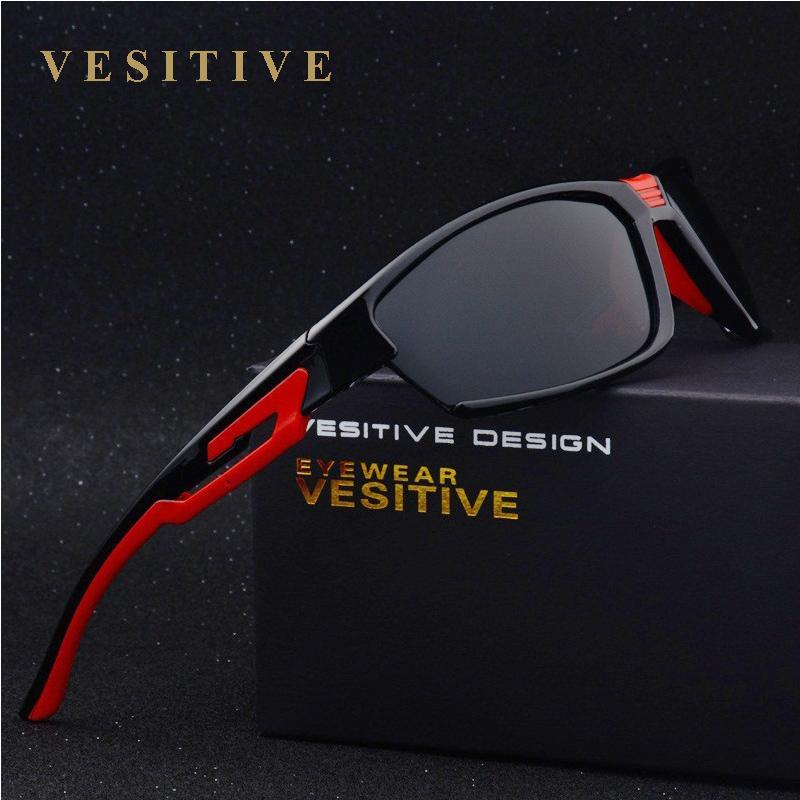 Vesitive Polarized Sunglasses Men Sport Sun Glasses For Driving Fishing-Polarized Sunglasses-Bargain Bait Box-black-Bargain Bait Box