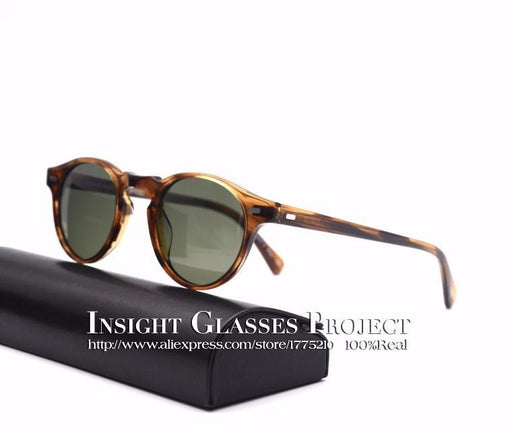 Vintage Men And Women Sunglasses Famous Ov 5186 Gregory Peck Polarized-Polarized Sunglasses-Bargain Bait Box-brown vs green-Bargain Bait Box