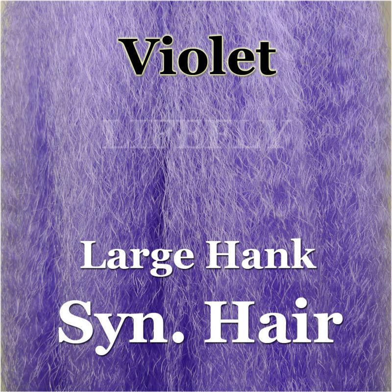 Violet Color / Large Hank Of Synthetic Hair, Hair, Syn. Fibre, Fly Tying, Jig,-Fly Tying Materials-Bargain Bait Box-Bargain Bait Box