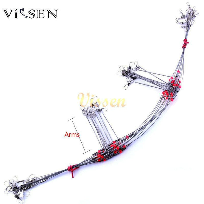 Vissen Trace Fishing Wire Stainless Steel Fishing Wire Leader Arms With Rigs-VISSEN Official Store-7cm 1 arms-Bargain Bait Box