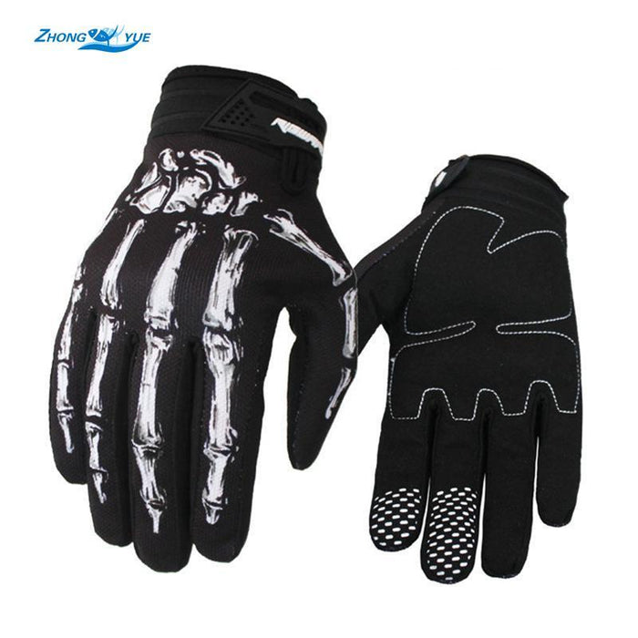 Vogue Warm Waterproof Durable Men Sports Anti Slip Gel Pad Fishing Gloves Tackle-Gloves-Bargain Bait Box-White-M-Bargain Bait Box