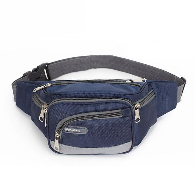 Waist Bag Nylon Fanny Pack For Men Casual Waist Pack Portable Bag Waist Men-Bags-Bargain Bait Box-Blue-Bargain Bait Box
