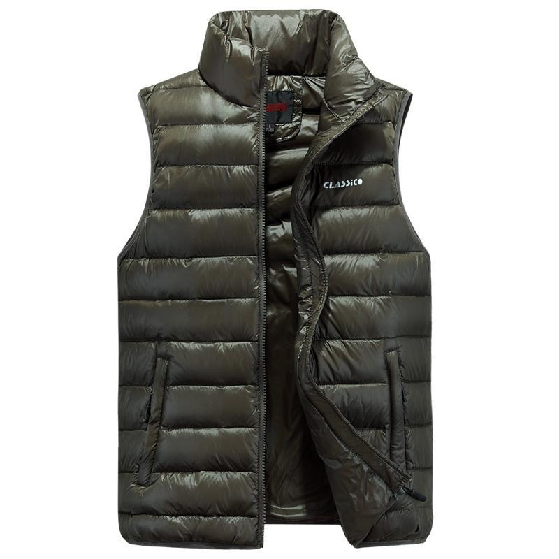 Waist For Men Duck Down Vest Ultra-Light Vestidos Men'S Vest Outwear Windproof-Vests-Bargain Bait Box-Black-4XL-Bargain Bait Box