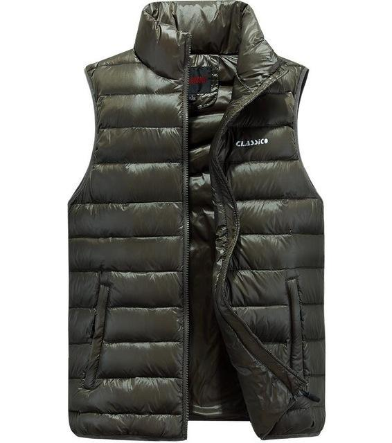 Waist For Men Duck Down Vest Ultra-Light Vestidos Men'S Vest Outwear Windproof-Vests-Bargain Bait Box-Green-4XL-Bargain Bait Box