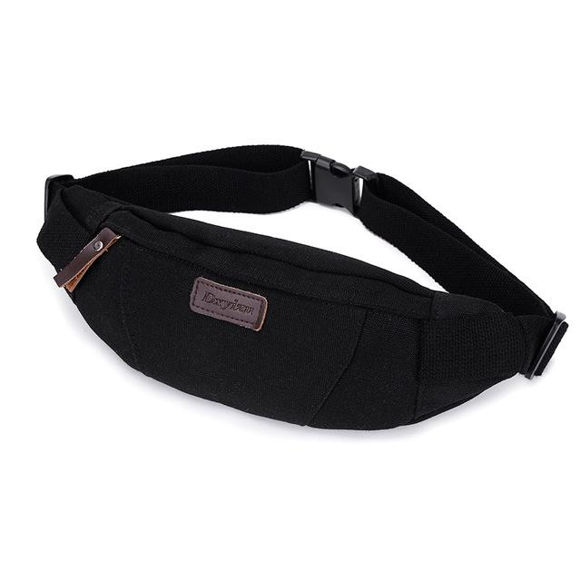 Waist Pack For Men Women Fanny Pack Bum Bag Hip Money Belt Ling Mobile Phone Bag-Bags-Bargain Bait Box-BLACK-Bargain Bait Box