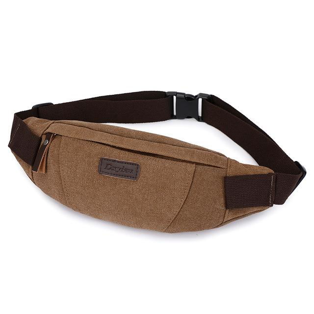 Waist Pack For Men Women Fanny Pack Bum Bag Hip Money Belt Ling Mobile Phone Bag-Bags-Bargain Bait Box-COFFEE-Bargain Bait Box