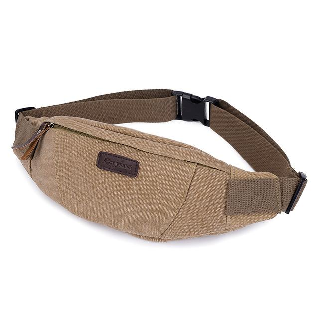 Waist Pack For Men Women Fanny Pack Bum Bag Hip Money Belt Ling Mobile Phone Bag-Bags-Bargain Bait Box-KHAKI-Bargain Bait Box