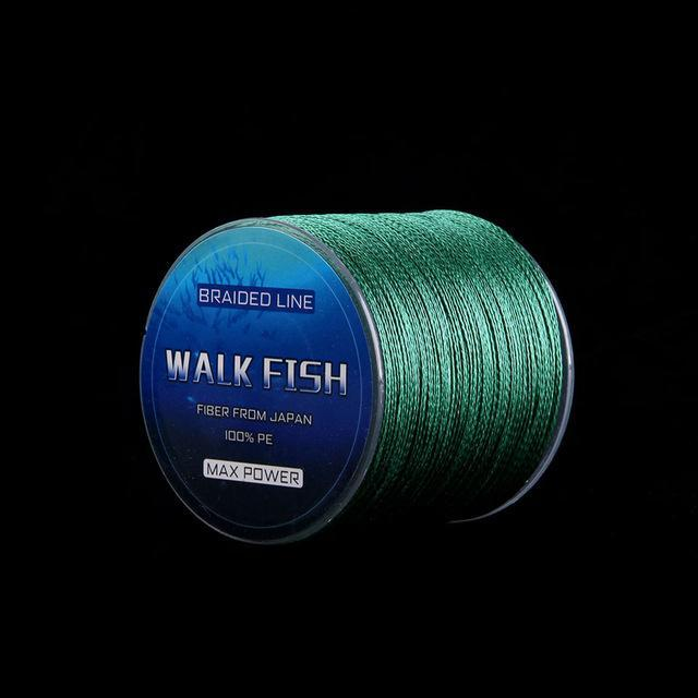 Walk Fish 100M 4 Strands Multifilament Pe Braided Fishing Line 0.3-12.0# 8-150Lb-WALK FISH Store-Green-0.3-Bargain Bait Box