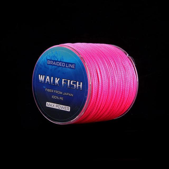 Walk Fish 100M 4 Strands Multifilament Pe Braided Fishing Line 0.3-12.0# 8-150Lb-WALK FISH Store-Pink-0.3-Bargain Bait Box