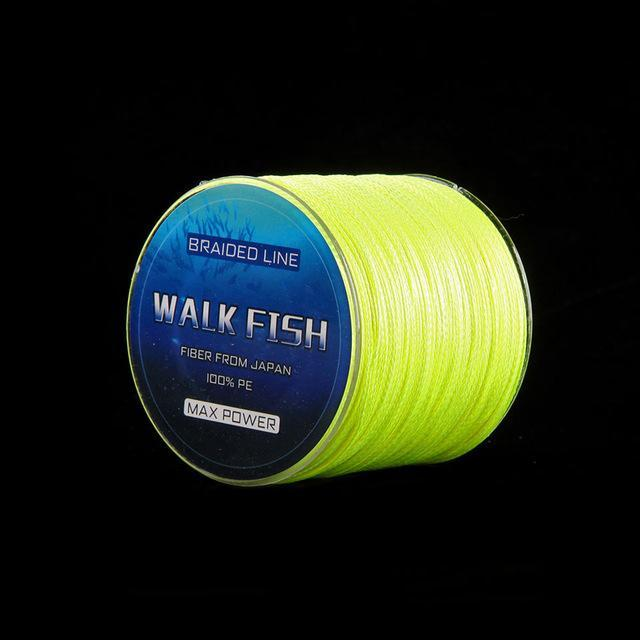 Walk Fish 100M 4 Strands Multifilament Pe Braided Fishing Line 0.3-12.0# 8-150Lb-WALK FISH Store-Yellow-0.3-Bargain Bait Box