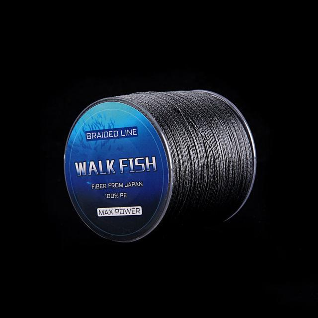 Walk Fish 100M 8 Strand Braid Fishing Line Rope Super Strong Smoother 100% Pe-WALK FISH Store-Black-0.6-Bargain Bait Box