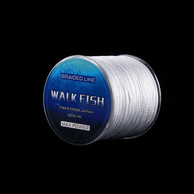 Walk Fish 100M 8 Strand Braid Fishing Line Rope Super Strong Smoother 100% Pe-WALK FISH Store-Grey-0.6-Bargain Bait Box