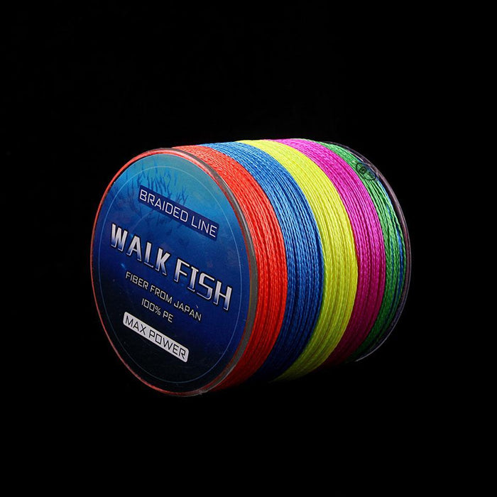 Walk Fish 100M 8 Strand Braid Fishing Line Rope Super Strong Smoother 100% Pe-WALK FISH Store-Multi-0.6-Bargain Bait Box