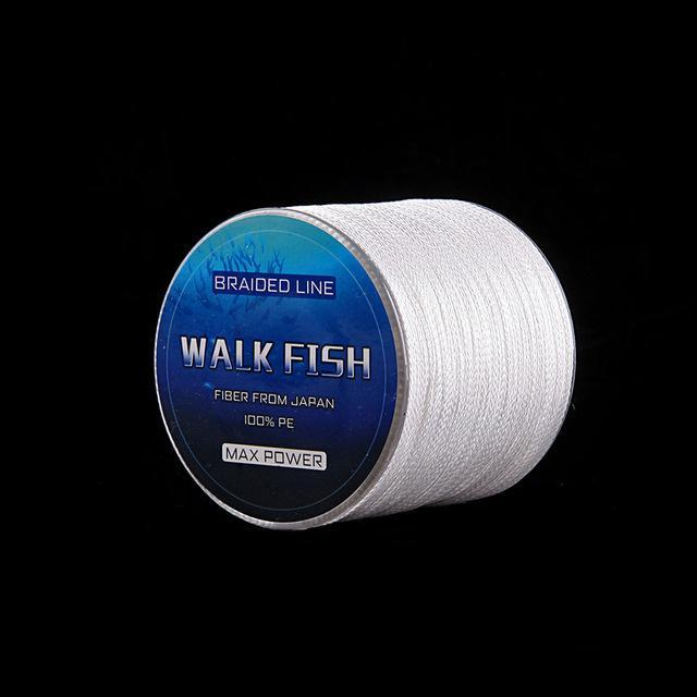 Walk Fish 100M 8 Strand Braid Fishing Line Rope Super Strong Smoother 100% Pe-WALK FISH Store-White-0.6-Bargain Bait Box